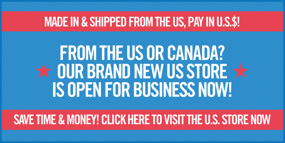 Our new US Store means faster, cheaper shipping